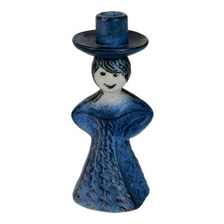 Studio Art Pottery Candle Holder Figure For Sale