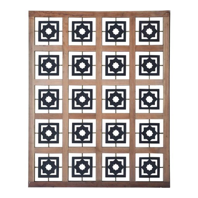 Mexican Modernist Mahogany Room Divider Escudero Era For Sale