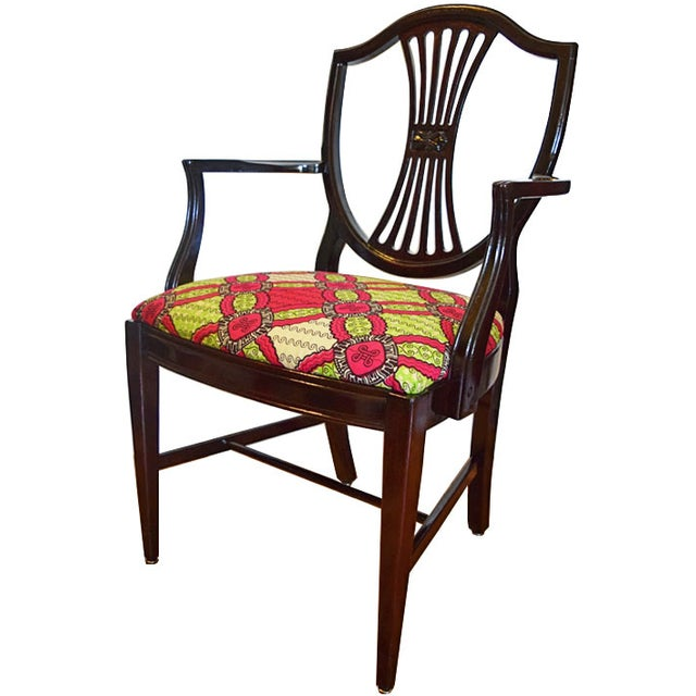 Antique-Style Shield Back Armchair - Image 1 of 7