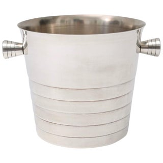 Art Deco Style Silver Plated Ice Bucket by Christofle, Paris, circa 1930s For Sale