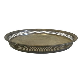 Silver Plate Tray For Sale