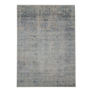 Contemporary Rug with Erased Design and Modern Abstract Style For Sale