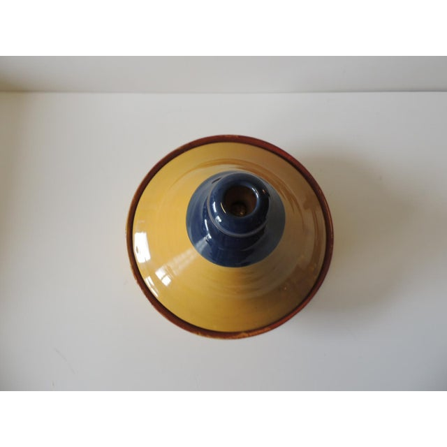 Early 21st Century Yellow and Blue Tagine Serving Bowl For Sale - Image 5 of 6