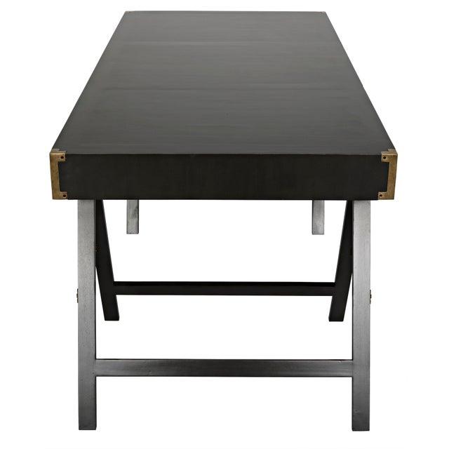 Noir Campaign Desk, Pale For Sale - Image 4 of 8