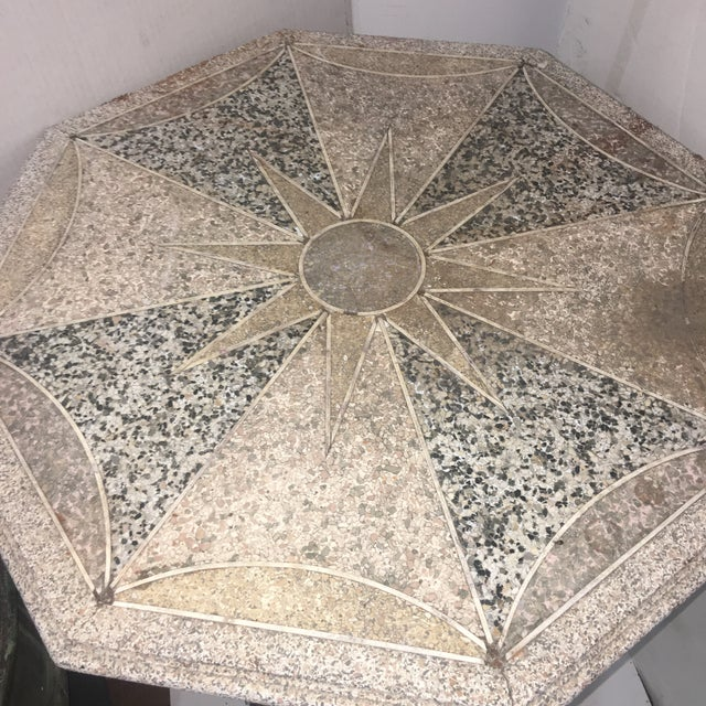 Antique Cast Iron & Terrazzo English Pub Table For Sale In New York - Image 6 of 11