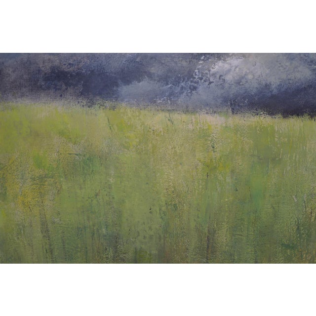 "Wood Mid-Century Modern ""Wheatfield"" Oil Painting by Joseph Barber C.1960 For Sale - Image 7 of 11"