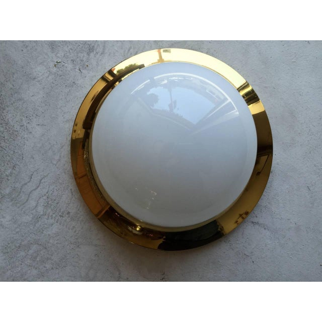 Mid-Century Modern Space Age Austrian Flush Light For Sale - Image 3 of 9