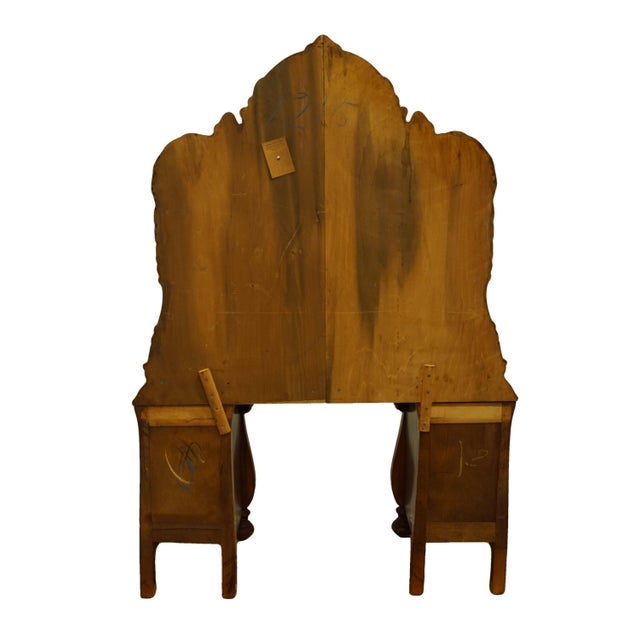 """Bassett Furniture French Regency Style 47"""" Vanity With Mirror For Sale - Image 10 of 13"""