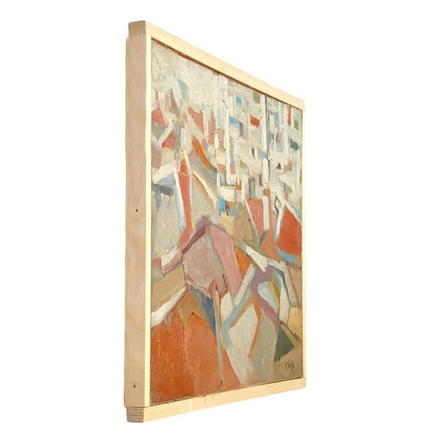 An abstract composition of books, on wood by Daniel Clesse, painted in France, signed and dated circa in 1985. Daniel...
