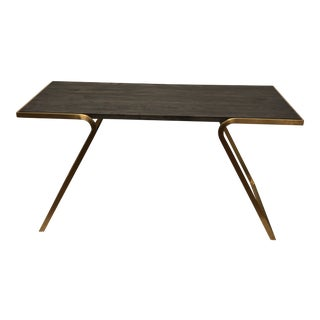 Minimalist Cavan Gold Finish Writing Desk For Sale