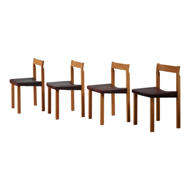 Olavi Hanninen set of four 'Tuomas' dining chairs, Finland, 1950s For Sale