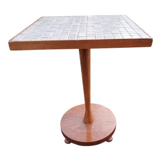 1960s Lane Monte Carlo Tile Top End Table For Sale