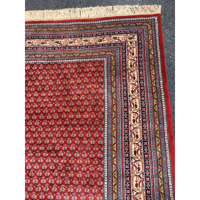 Red 1990s Handknotted Mir Area Rug- 8′7″ × 11′11″ For Sale - Image 8 of 13