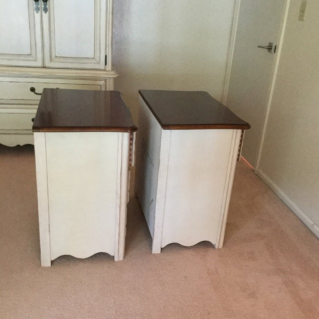 Drexel Heritage Drexel French Countryside Bedside Chests - a Pair For Sale - Image 4 of 9