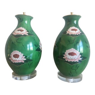 Mid-Century Italian Water Lily Lamps - a Pair For Sale