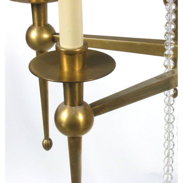 Brass & Crystal Chandelier - Image 2 of 8