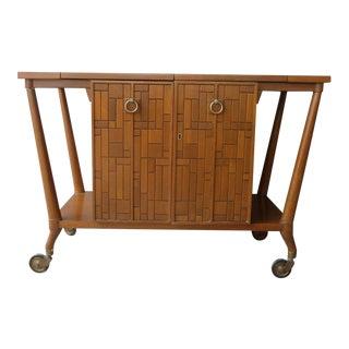 1950s Mid Century Modern Johnson Furniture Company Bar Cart