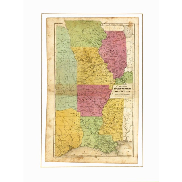 Antique Map Central States & Texas , 1844 - Image 3 of 3