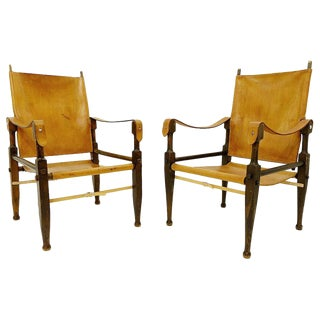 Pair of Safari Chairs by Wilhelm Kienzle for Wohnbedarf, 1950s For Sale