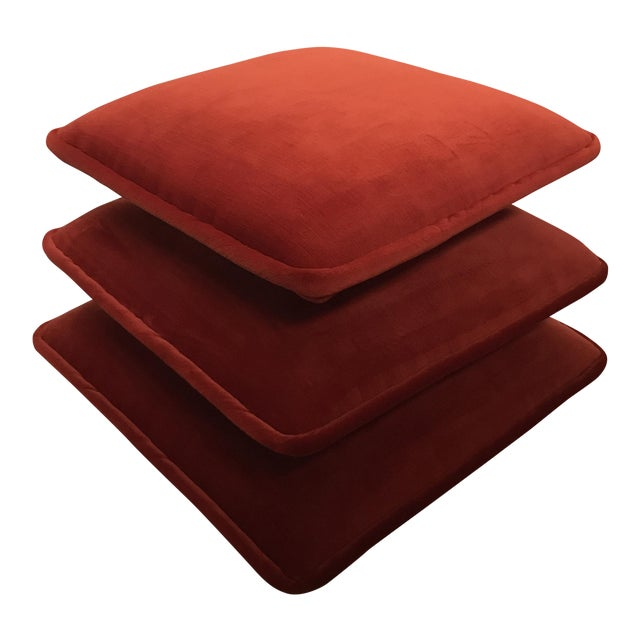 Final Markdown Stacked Cushion Ottoman For Sale