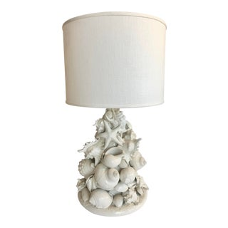 Shells Ceramic Table Lamp For Sale
