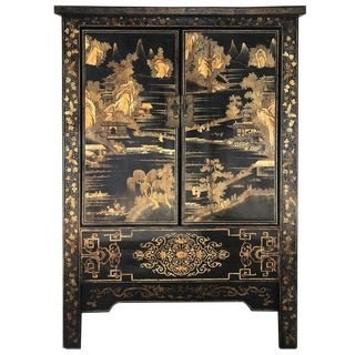 Stunning Qing Chinese Lacquer Cabinet