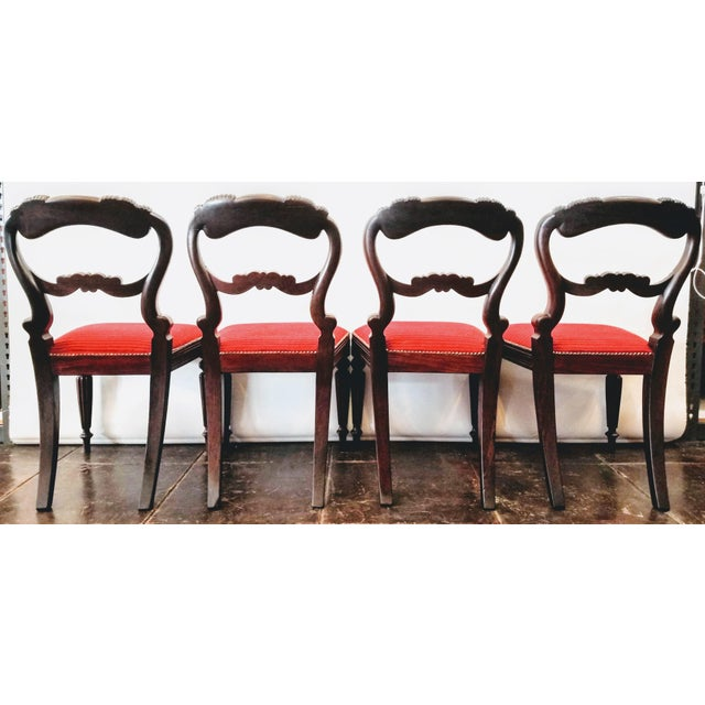 Early 19th Century Set of Four Georgian / Regency / William IV / Victorian Rosewood Chairs Attributed to Gillows of Lancaster For Sale - Image 5 of 10