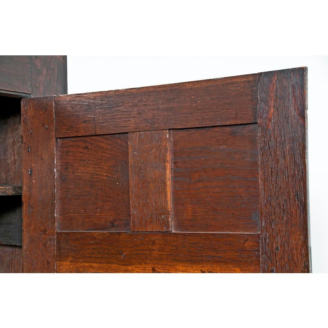 Early 18th Century 18th Century English Oak Bacon Settle For Sale - Image 5 of 11