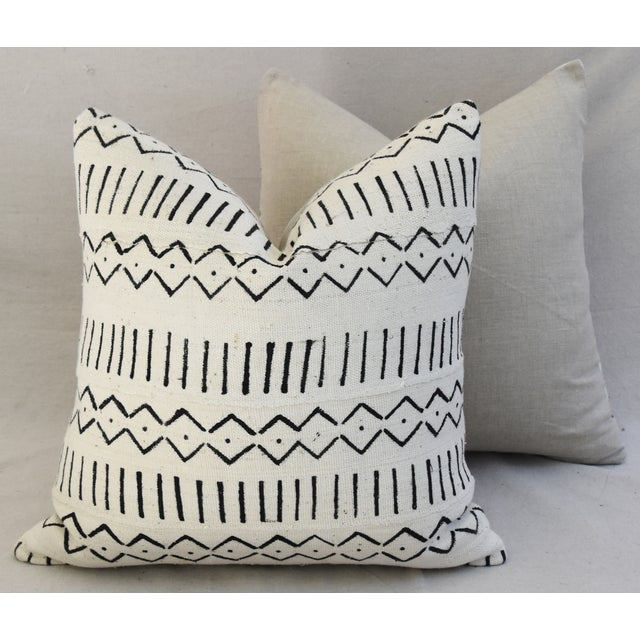 Boho-Chic Mali Mud Cloth Tribal Design Pattern Pillows - A Pair For Sale - Image 10 of 10