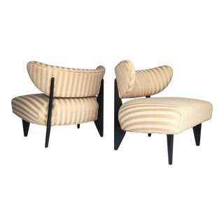 Pair of Slipper Chairs in the Style of Gio Ponti For Sale