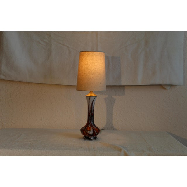 Mid Century Modern Petite Murano Table Lamp For Sale In Miami - Image 6 of 9