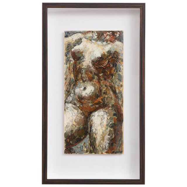 Charles J. Burdick (American, B. 1924) Female Nude, Acrylic on Paper, 1970s For Sale