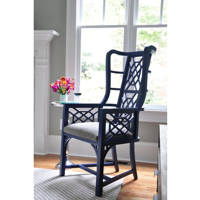Taylor Burke Home Fretwork Accent Chairs - A Pair - Image 2 of 3