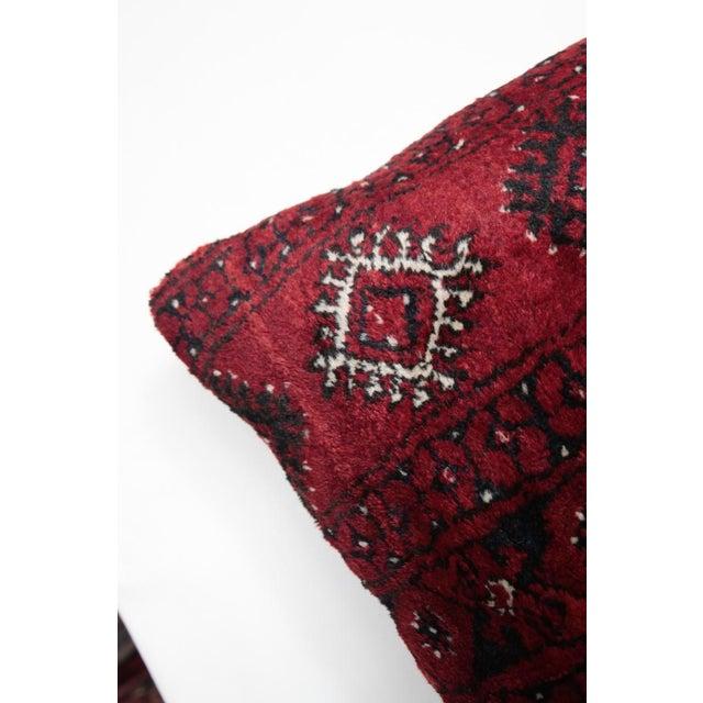 Blue Boho Chic Carpet Pillow For Sale - Image 8 of 11