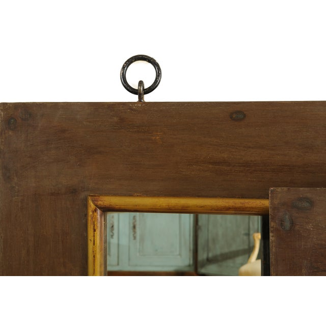 French French Industrial Style Mirrors - A Pair For Sale - Image 3 of 4