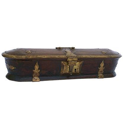 Vintage Wood Kerala Box II For Sale