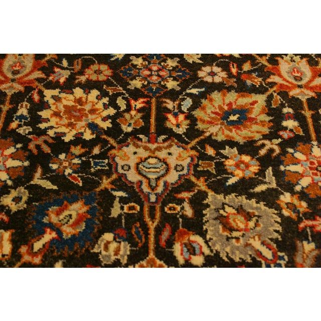 Istanbul Claris Brown/Lt. Tan Turkish Hand-Knotted Rug -4'3 X 6'2 For Sale - Image 4 of 8