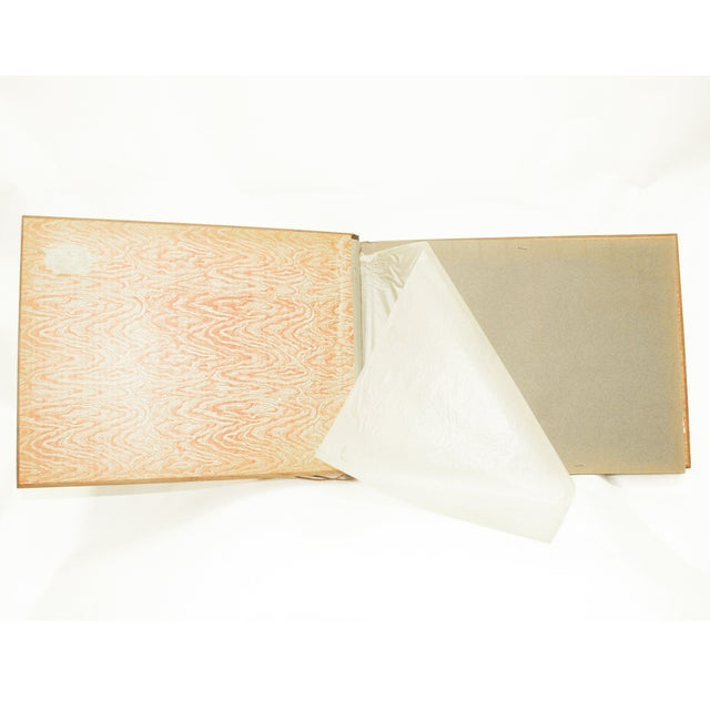 Vintage Wooden Scrapbook With Flower Inlay - Image 3 of 5