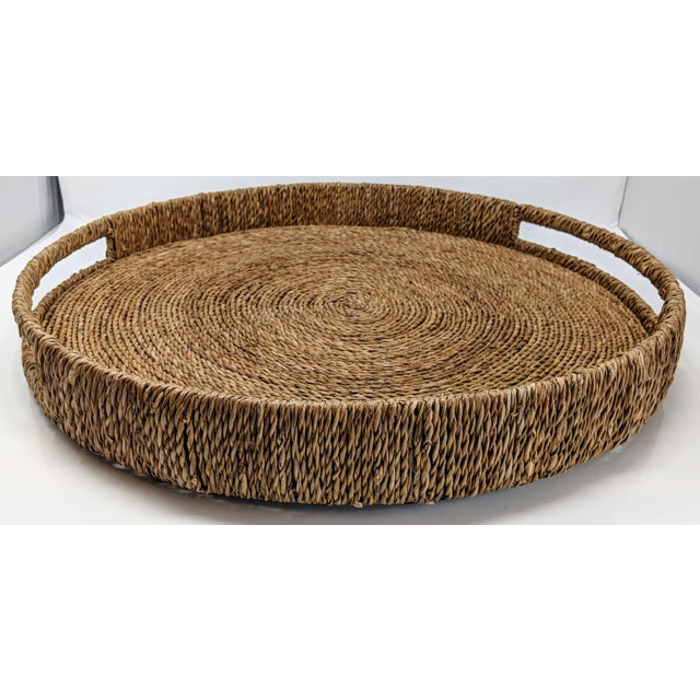 Palecek Style Round Ottoman Tray For Sale - Image 10 of 13
