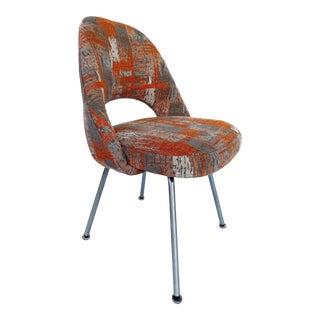 Knoll Eero Saarinen Executive Tubular Leg Chair in Cowtan & Tout Velvet For Sale
