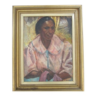 """""""Woman in a Pink Bathrobe"""" Painting For Sale"""