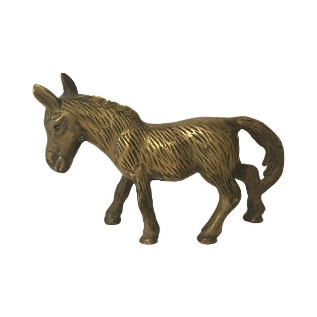 Brass Donkey Figurine - Image 1 of 6