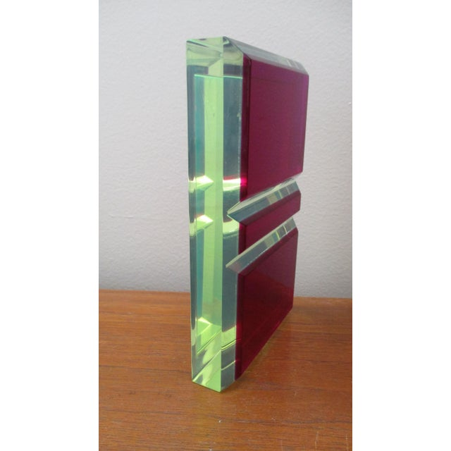 Vasa Velizar Mihich Style Lucite Paperweight Sculpture Block For Sale - Image 13 of 13