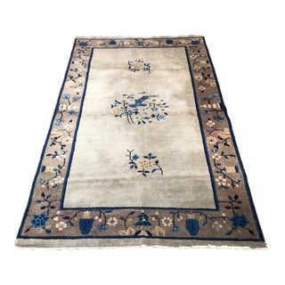 """1960's Chinese Peking Wool Rug - 3'9"""" X 6'8"""" For Sale"""