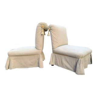 Napoleon III Slipper Chairs - a Pair For Sale