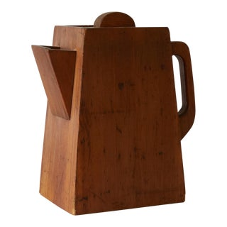 1940's Vintage Coffee Pot Shaped Box For Sale