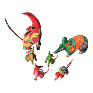 1970s Mexican Alebrijes - Set of 6 For Sale