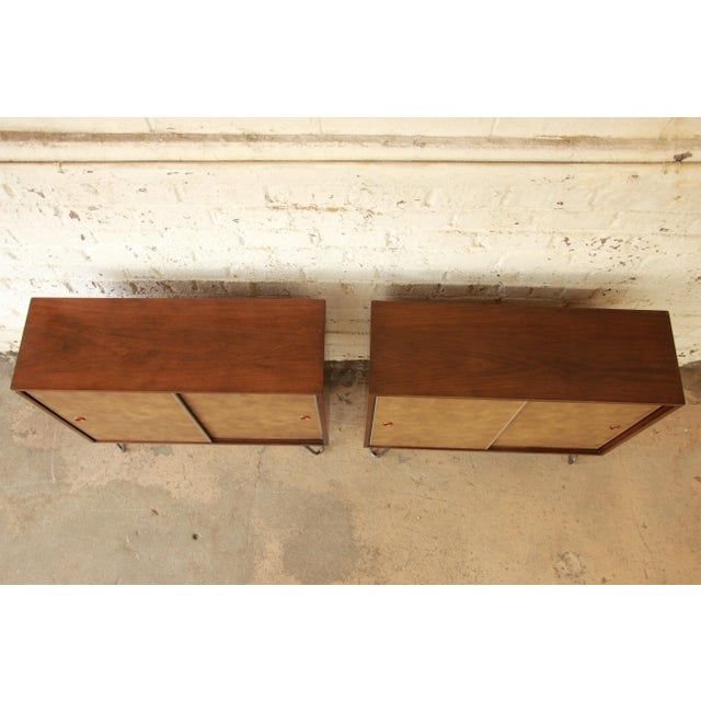 Paul McCobb for Calvin Small Cabinets on Hairpin Legs- a Pair - Image 5 of 9