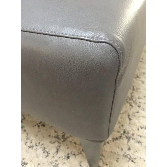 Animal Skin B & B Italia Italian Modern Leather Bench For Sale - Image 7 of 10