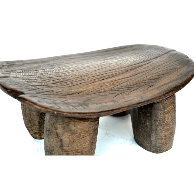 African Lobi Wood Stool For Sale - Image 4 of 7